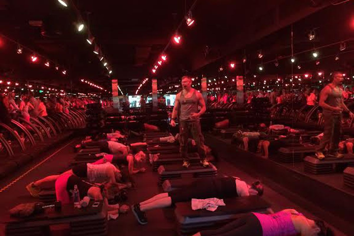 The man, the legend: Barry Jay leads the first class at Barry's Bootcamp San Francisco. Photo courtesy of Barry's Bootcamp.