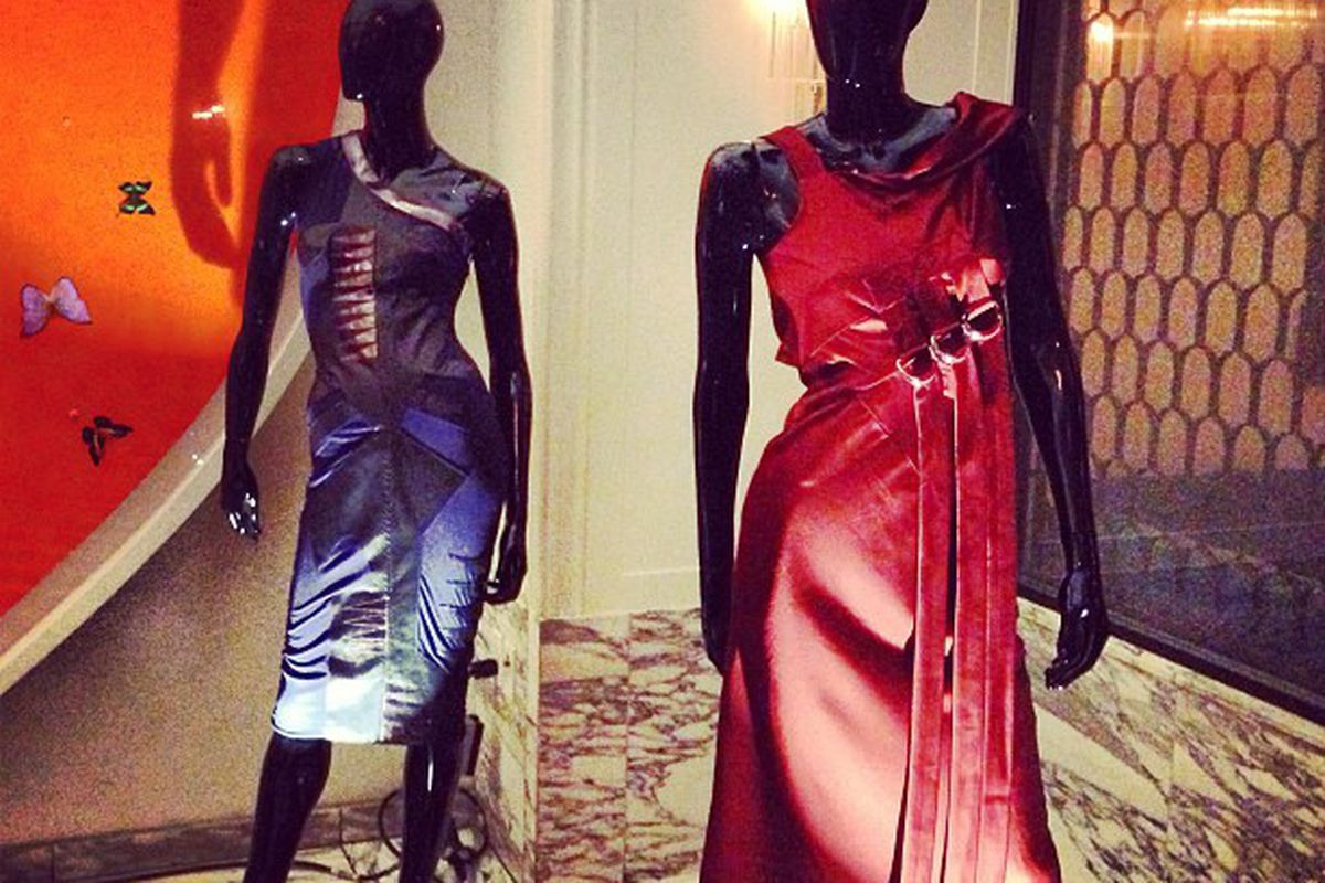 Altuzarra's archived looks on display at Cecconi's.