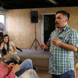 <em>José R. Ralat talks tacos. [Photos: Margo Sivin/EDFW]</em>