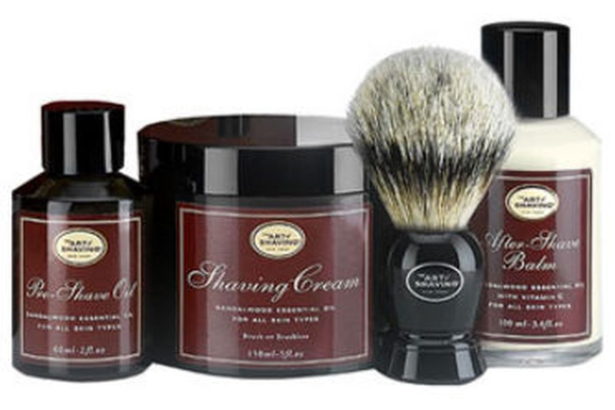 """Art of Shaving Kit. Image via <a href=""""http://shop.nordstrom.com/s/the-art-of-shaving-the-4-elements-of-the-perfect-shave-sandalwood-kit-137-value/3163429?origin=category-personalizedsort&amp;contextualcategoryid=0&amp;fashionColor=&amp;resultback=2"""