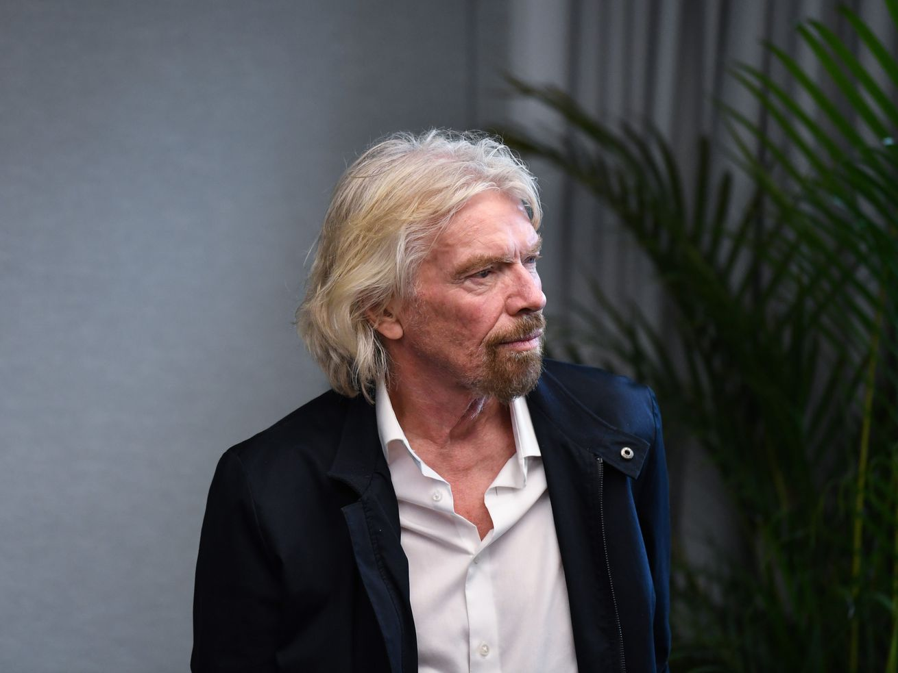 Richard Branson waits to address an audience during the launch of the B Team Australasia on October 11, 2018, in Sydney.
