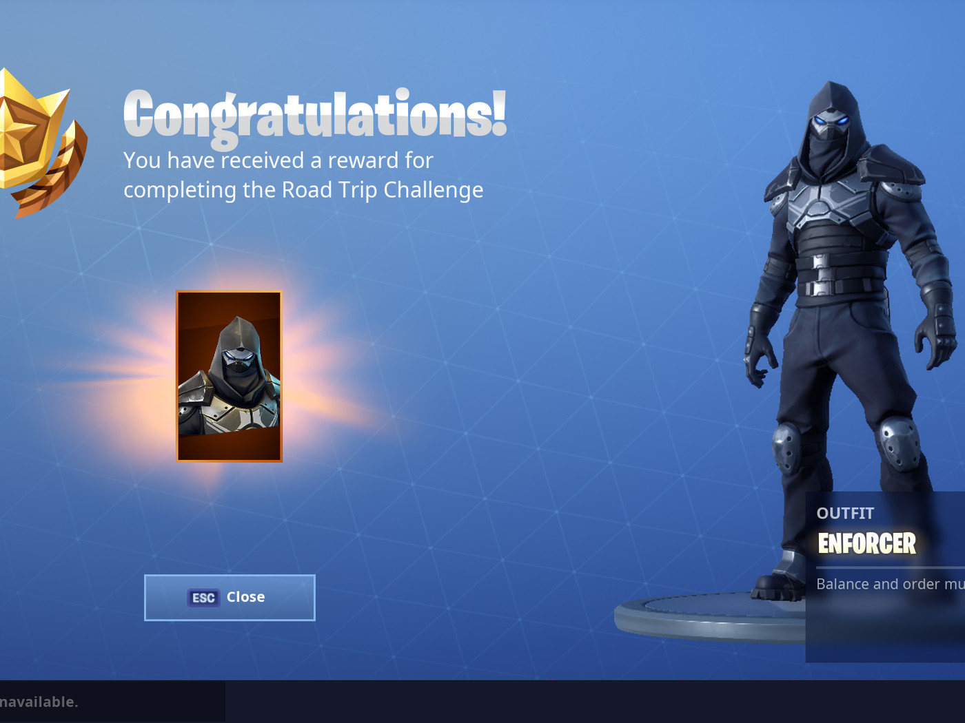 fortnite s road trip challenge skin has been revealed as the enforcer polygon fortnite s road trip challenge skin has