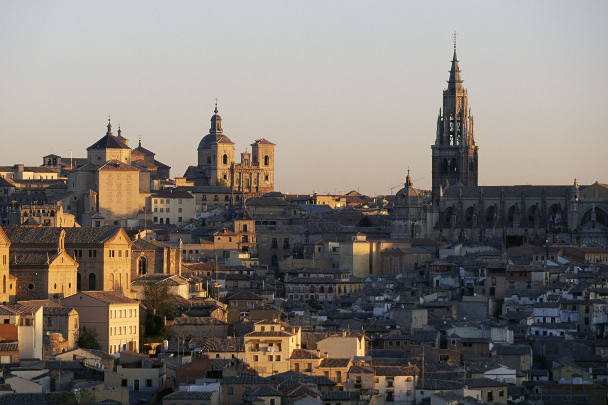 View of Toledo at sunset, Castile