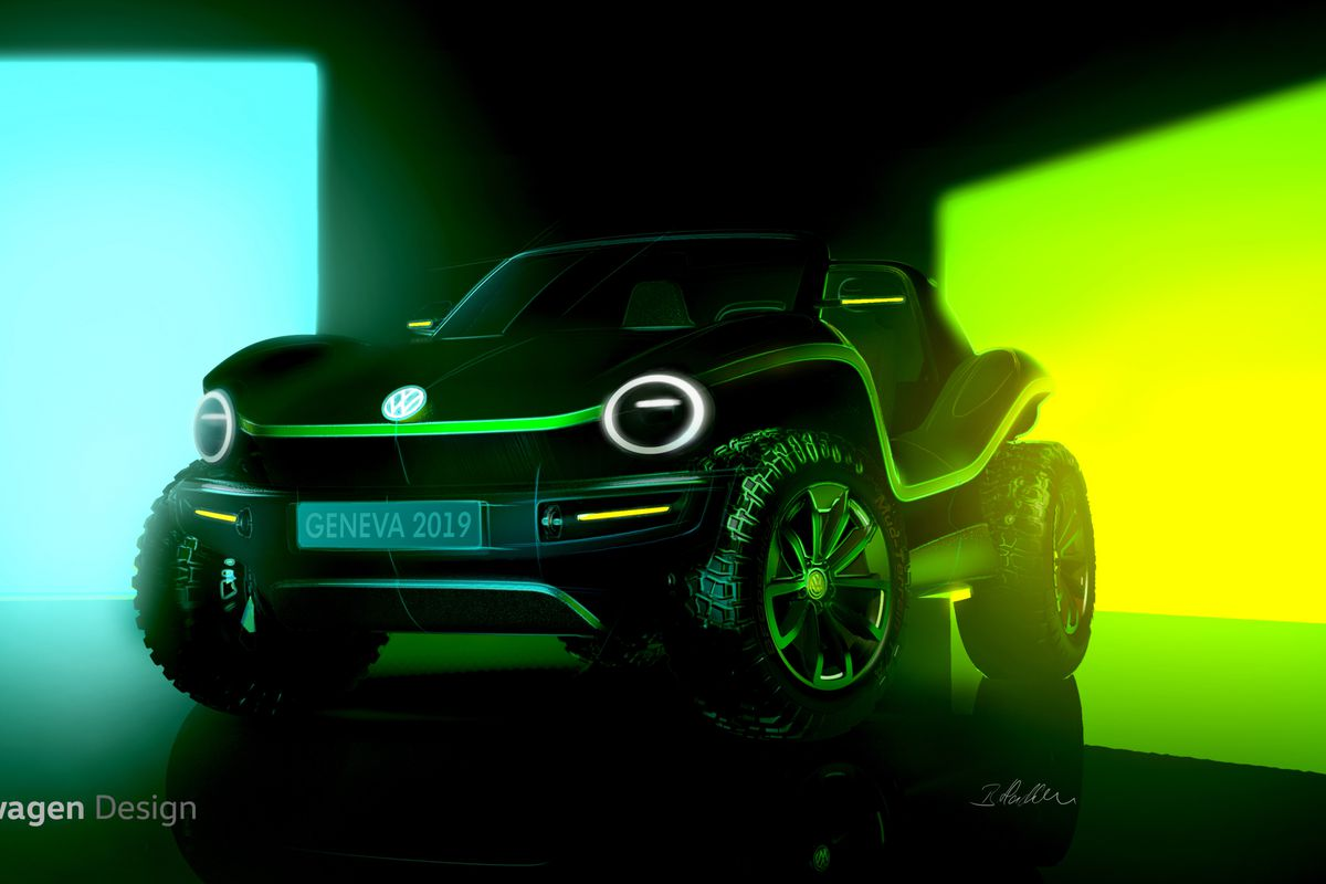 Volkswagen Teases An All Electric Dune Buggy Concept New