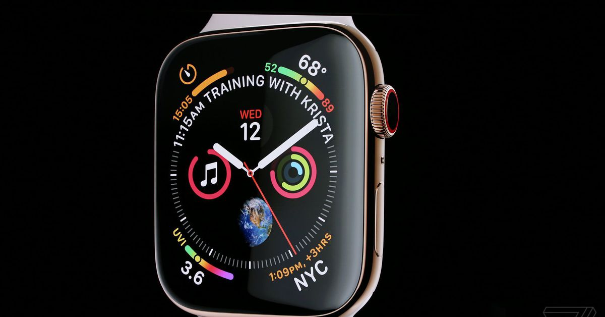 Apple Watch Series 4 includes a bigger display and a built-in EKG scanner