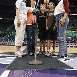 The Graff Family Singers audition Friday for the chance to sing the national anthem during Utah Jazz games this season at EnergySolutions Arena in Salt Lake City.