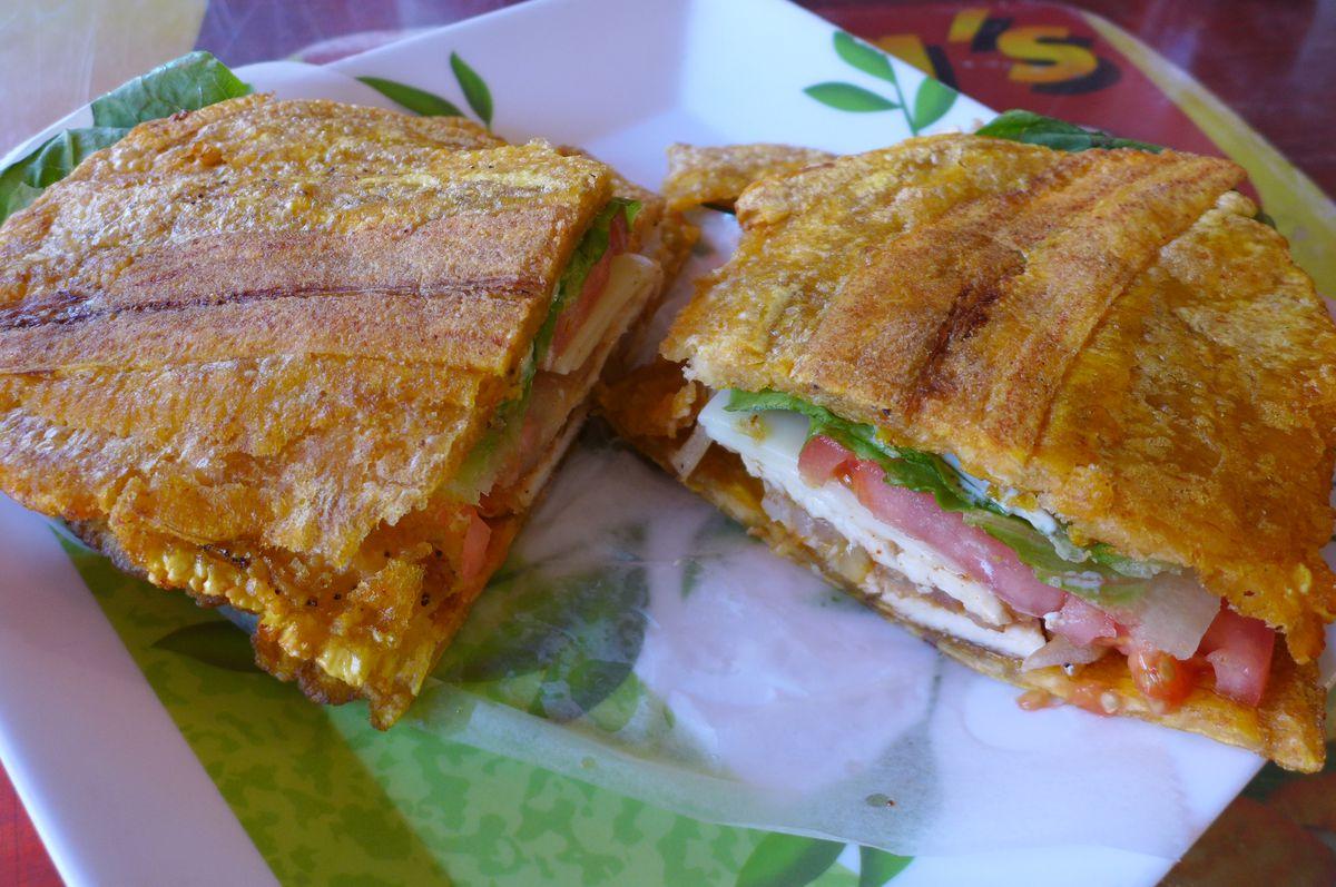 """Crazy plantain"" sandwich"