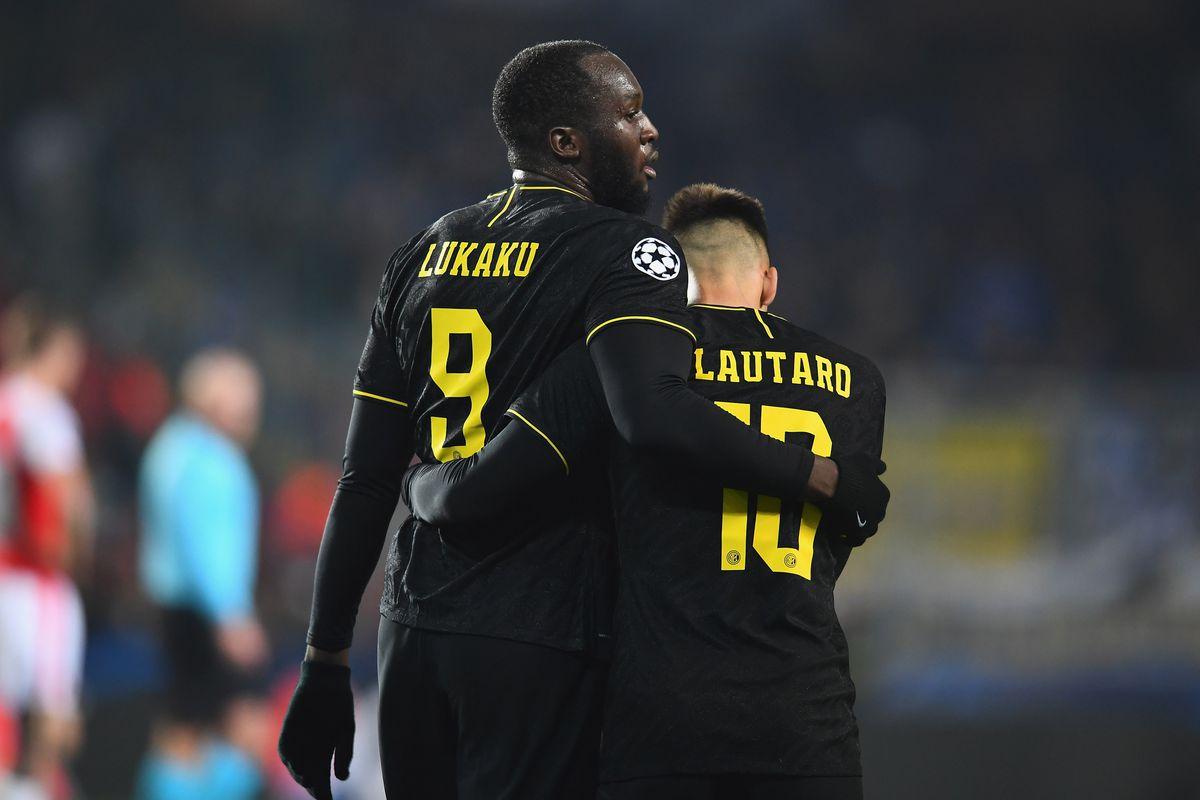 Romelu Lukaku and Lautaro Martínez - Inter: Group F - UEFA Champions League