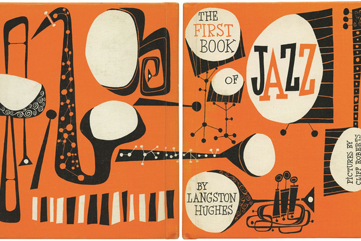 The original 1955 cover of Langston Hughes's Book of Jazz