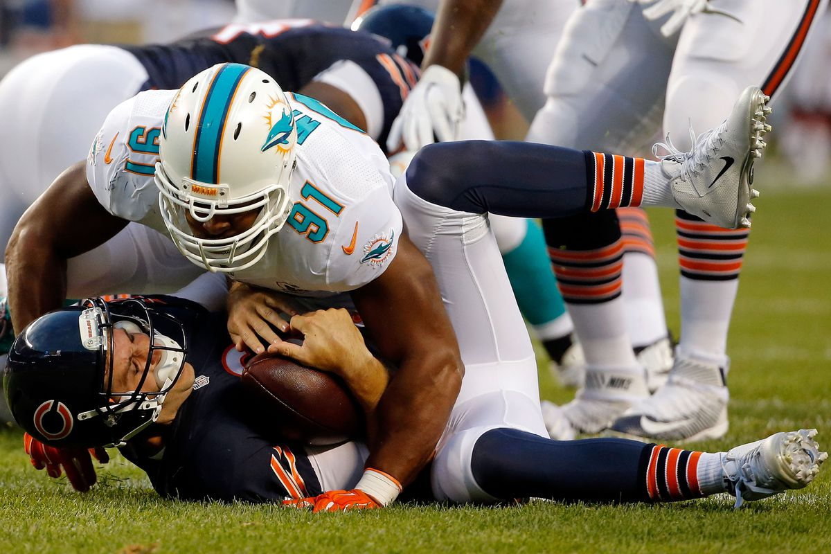 Cutty sacked by the Bears (in addition to Cameron Wake)?