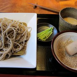 """Cocoron cold sesame soba by <a href=""""http://www.flickr.com/photos/62159569@N08/5956834304/in/pool-eater/"""">Scoboco</a>. <br />"""