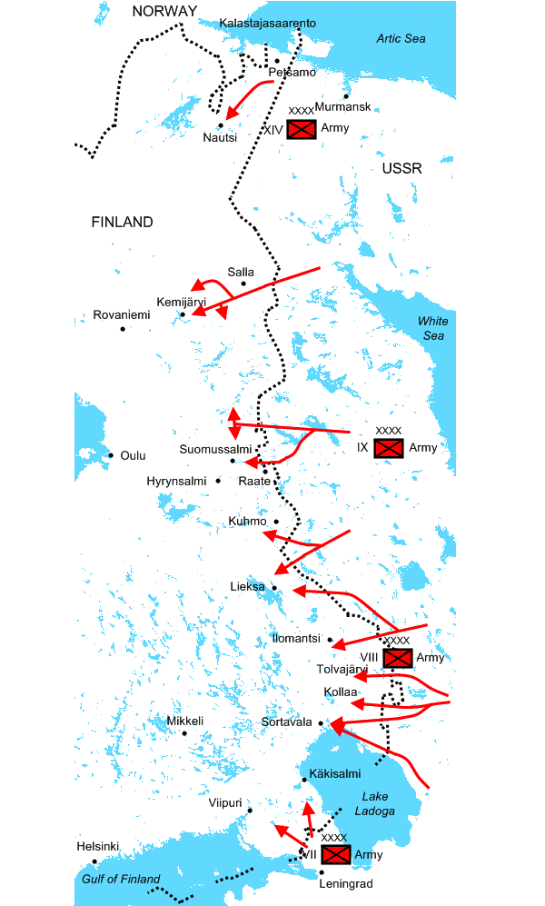 "Russia invades Finland in the ""winter war"""