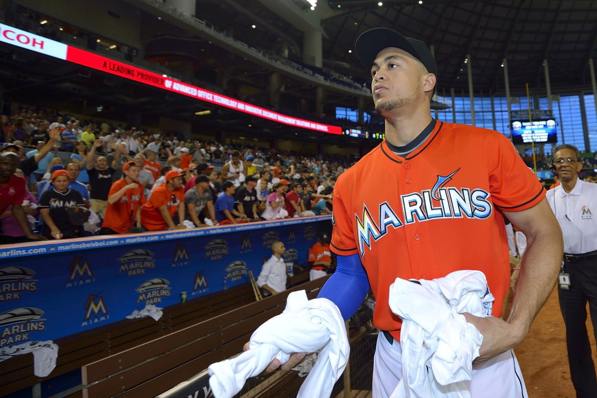 the Marlins also disagree with Stanton's free-t-shirt-distribution policy