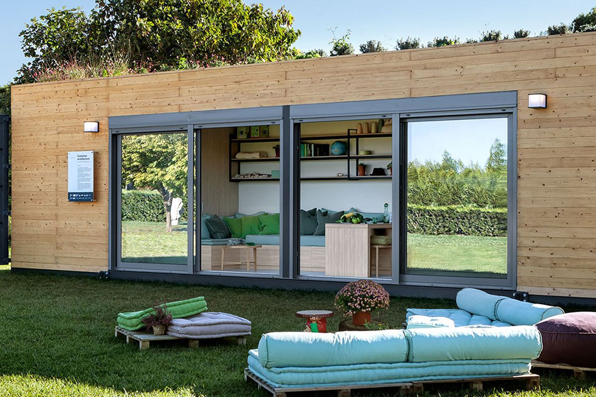 Shipping container home from Cocoon Modules is also energy-efficient on modular log homes in sc, modular log home prices, modular homes with apartments,