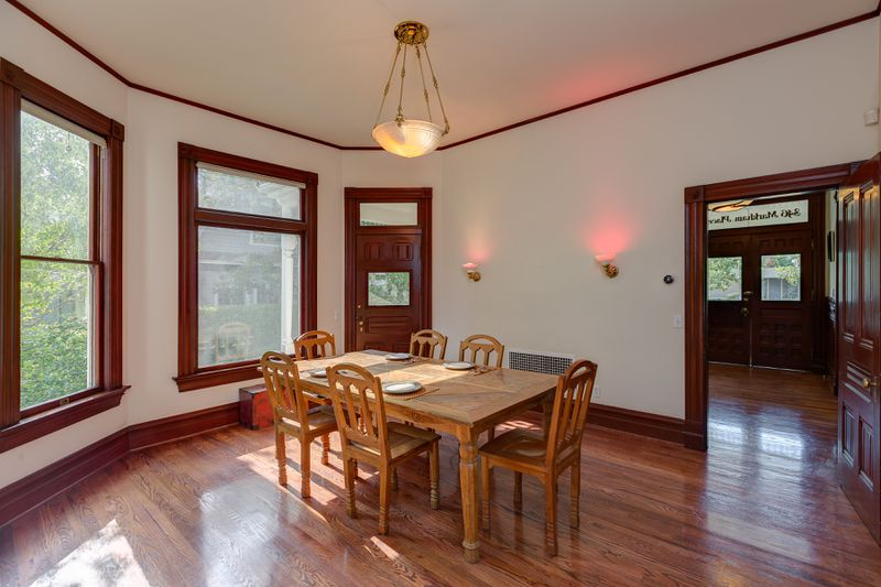 Dining room with hardwood floor
