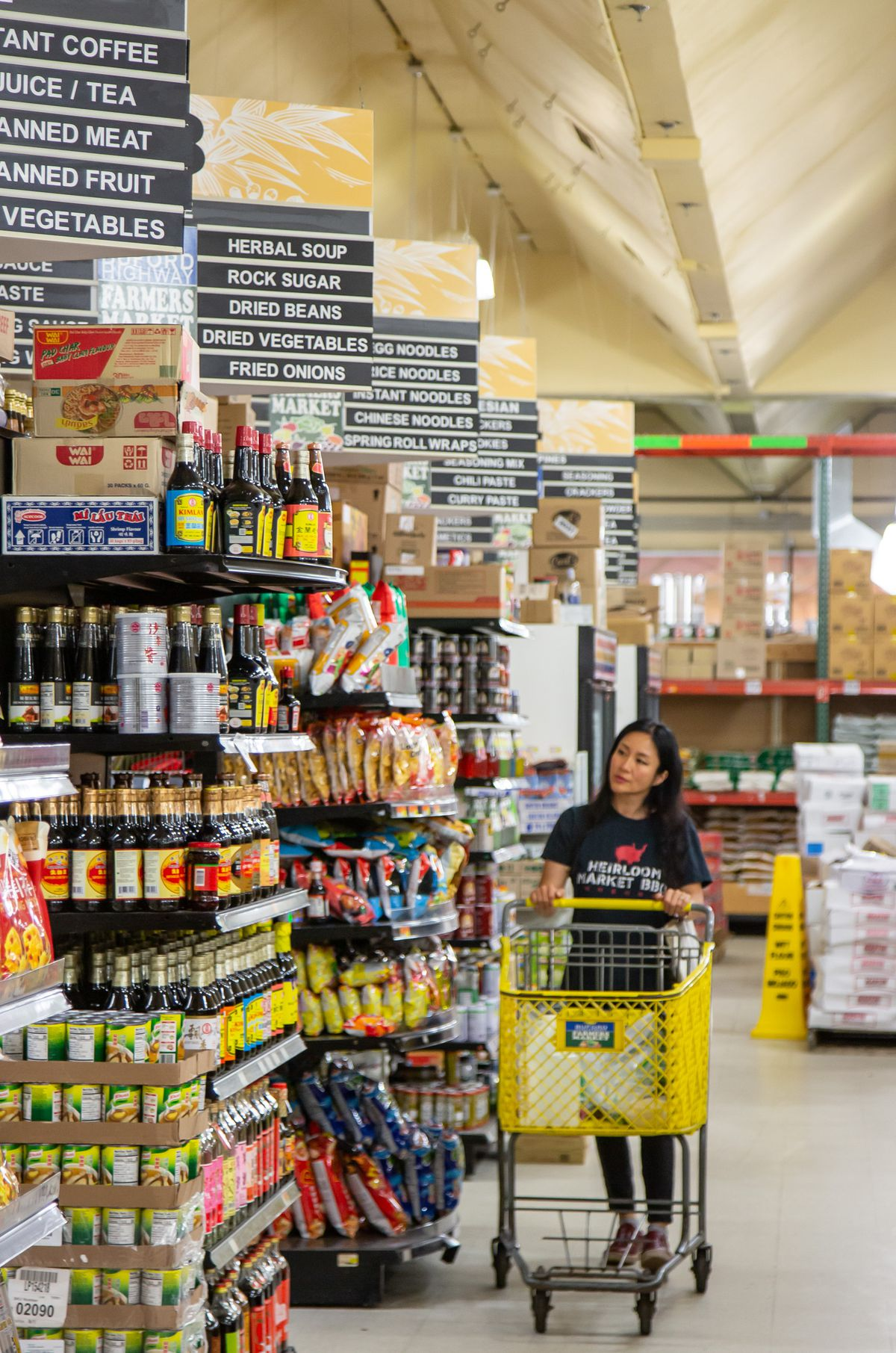 Chef Jiyeon Lee shopping for ingredients at Buford Highway Farmers Market
