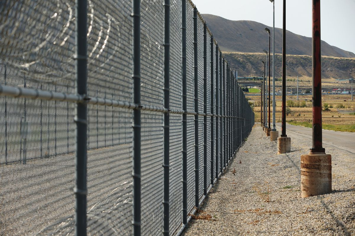 Razor wire and fencing at the Utah State Prison on Monday, Sept 14, 2020.