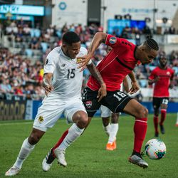 June,18, 2019 - Saint Paul, Minnesota, United States - Trinidad and Tobago defender Alvin Jones (16) during a CONCACAF Gold Cup match between Trinidad and Tobago and Panama at Allianz Field.
