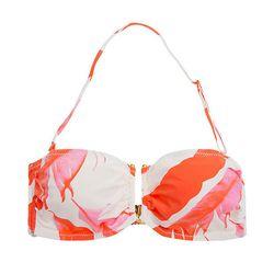 "<b>Beautiful Bottoms</b> Summer Plumes Bandeau Bikini Top, <a href=""http://www.journelle.com/products/swimwear/beautiful-bottoms-summer-plumes-bandeau-bikini-top/BEA-248.html"">$75</a> at Journelle"
