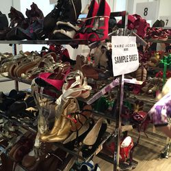 Women's sample shoes, all priced at $50