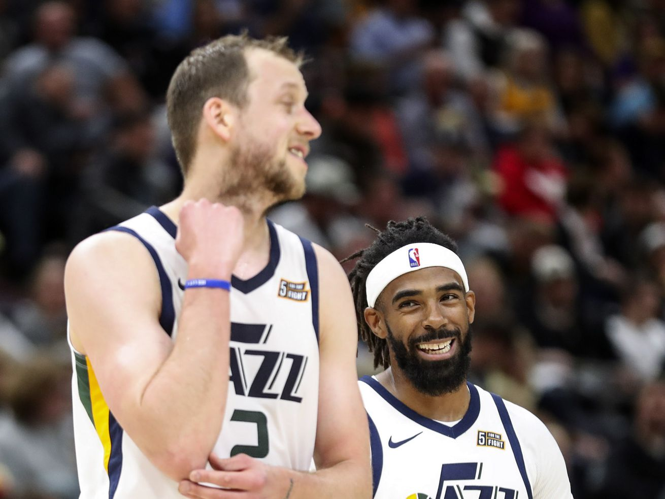 Expectant fathers Mike Conley, Joe Ingles made tough decision to join Utah Jazz in Orlando