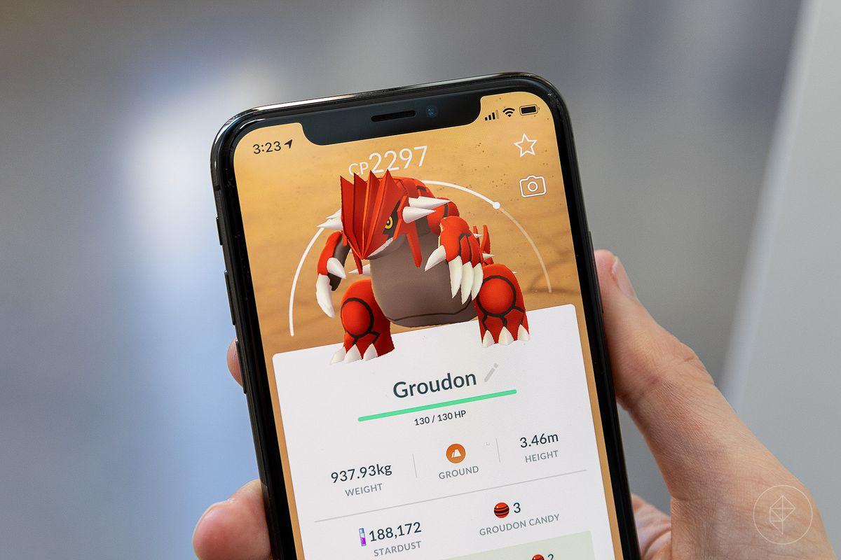 Groudon in Pokémon Go