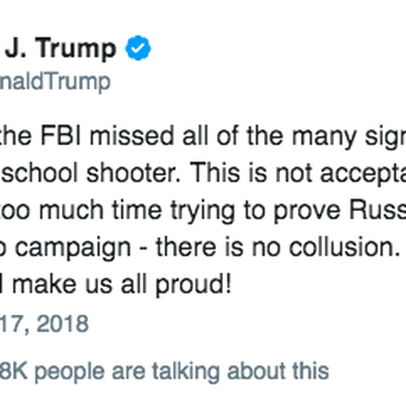 A Trump tweet echoed RT and Breitbart criticisms of the FBI\'s Russia ...