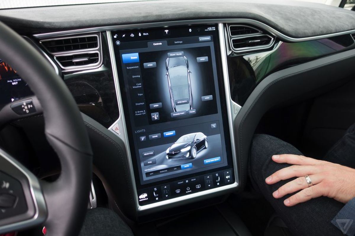 tesla may start mirroring apps from smartphones on its big touchscreen the verge. Black Bedroom Furniture Sets. Home Design Ideas