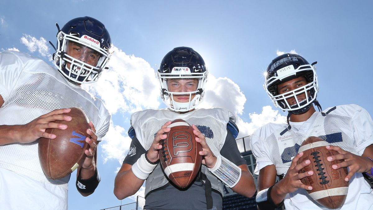 Nazareth's Landon Morris, left, J.J. McCarthy, middle, and Tyler Morris, right, think the sky is the limit this year for the Roadrunners.