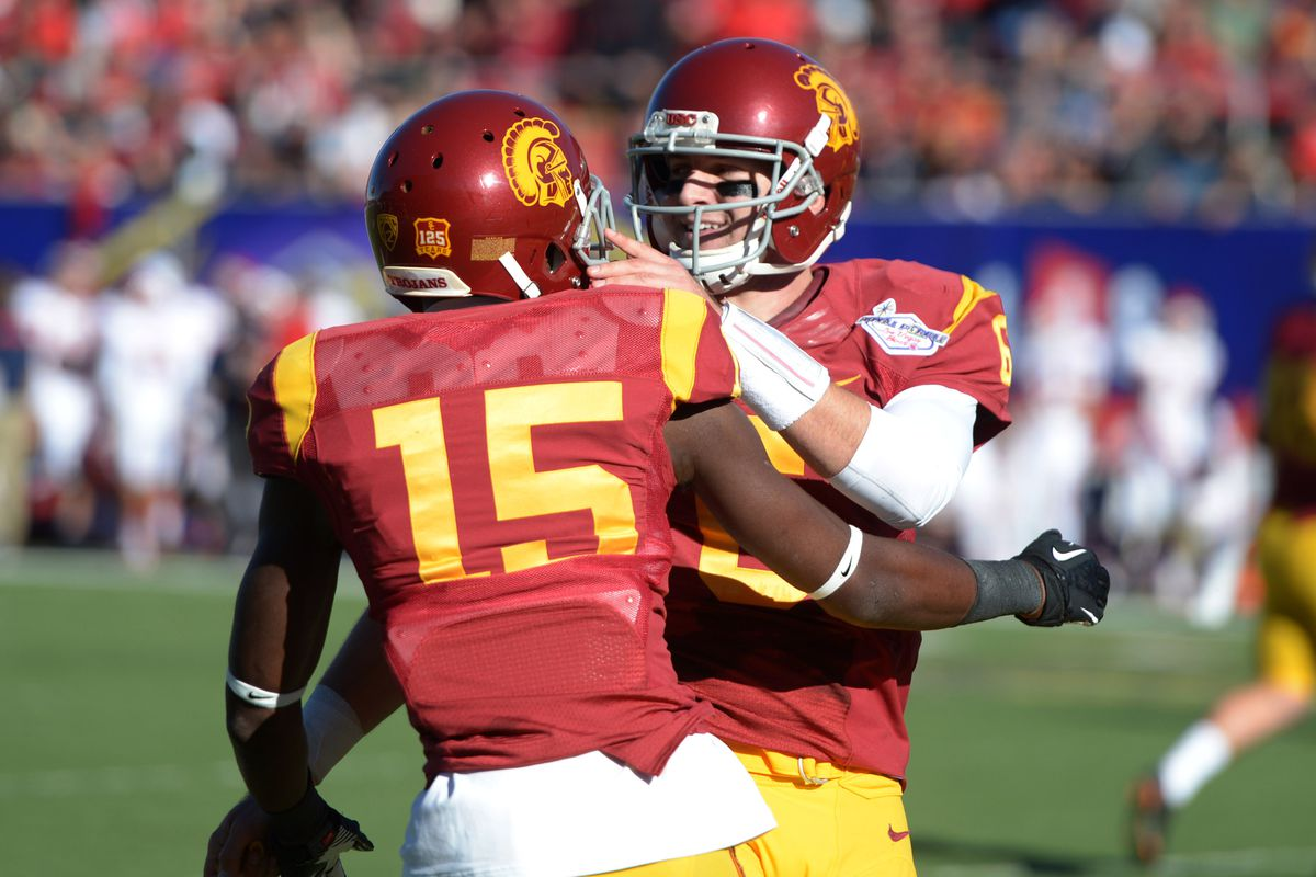 Nelson Agholor dropped a would-be touchdown from Cody Kessler in practice.