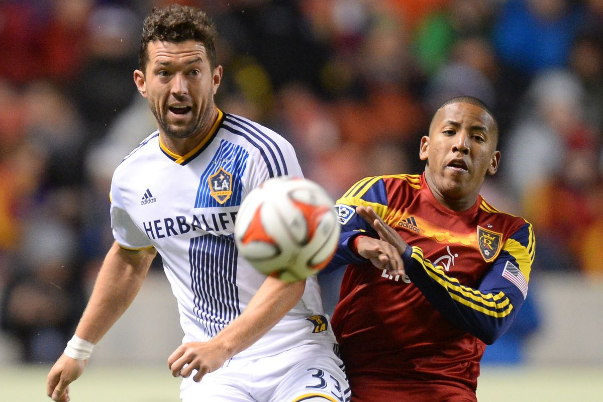 Potential MLS Cup Champion Dan Gargan battles with fellow former Red, Joao Plata in the playoffs