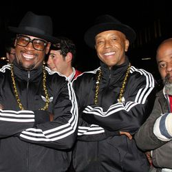 Record industry vet Andrew Harrell, Russell Simmons, and a guy who we're pretty sure just jumped into the photo