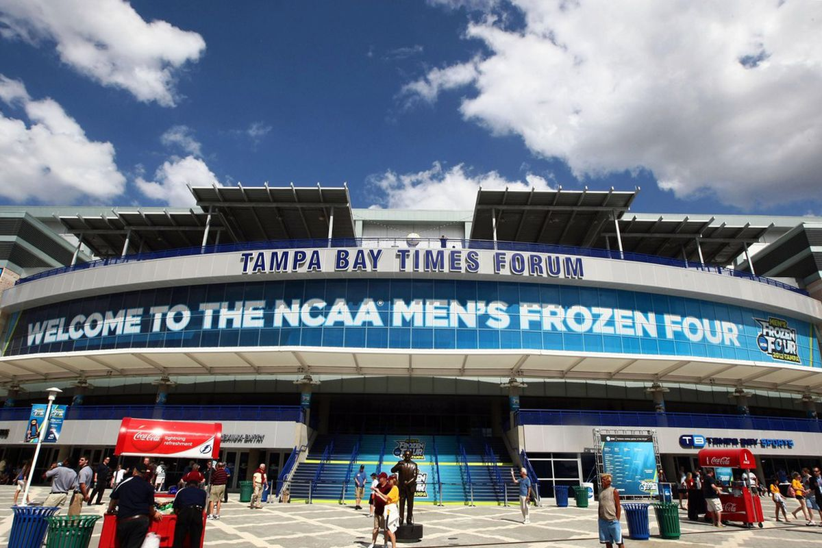 Last year's Frozen Four was in Tampa. This year the event will take place at the Consol Energy Center in Pittsburgh.