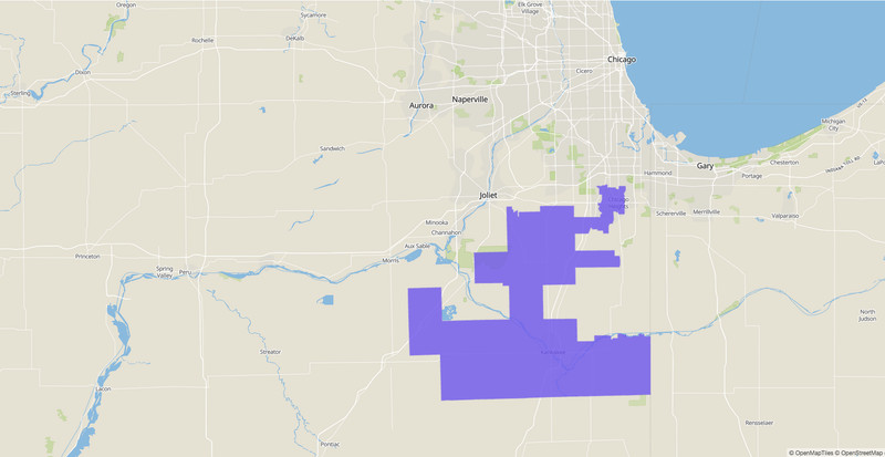 Illinois Senate 40th District map.