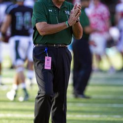 Hawaii head coach Norm Chow looks on before an NCAA college football game against Lamar, Saturday, Sept.15, 2012, in Honolulu.