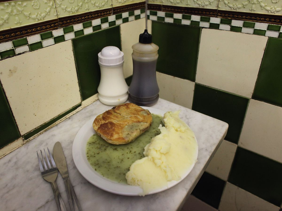 Manze's pie and mash shop, one of the best restaurants in Deptford, south east London
