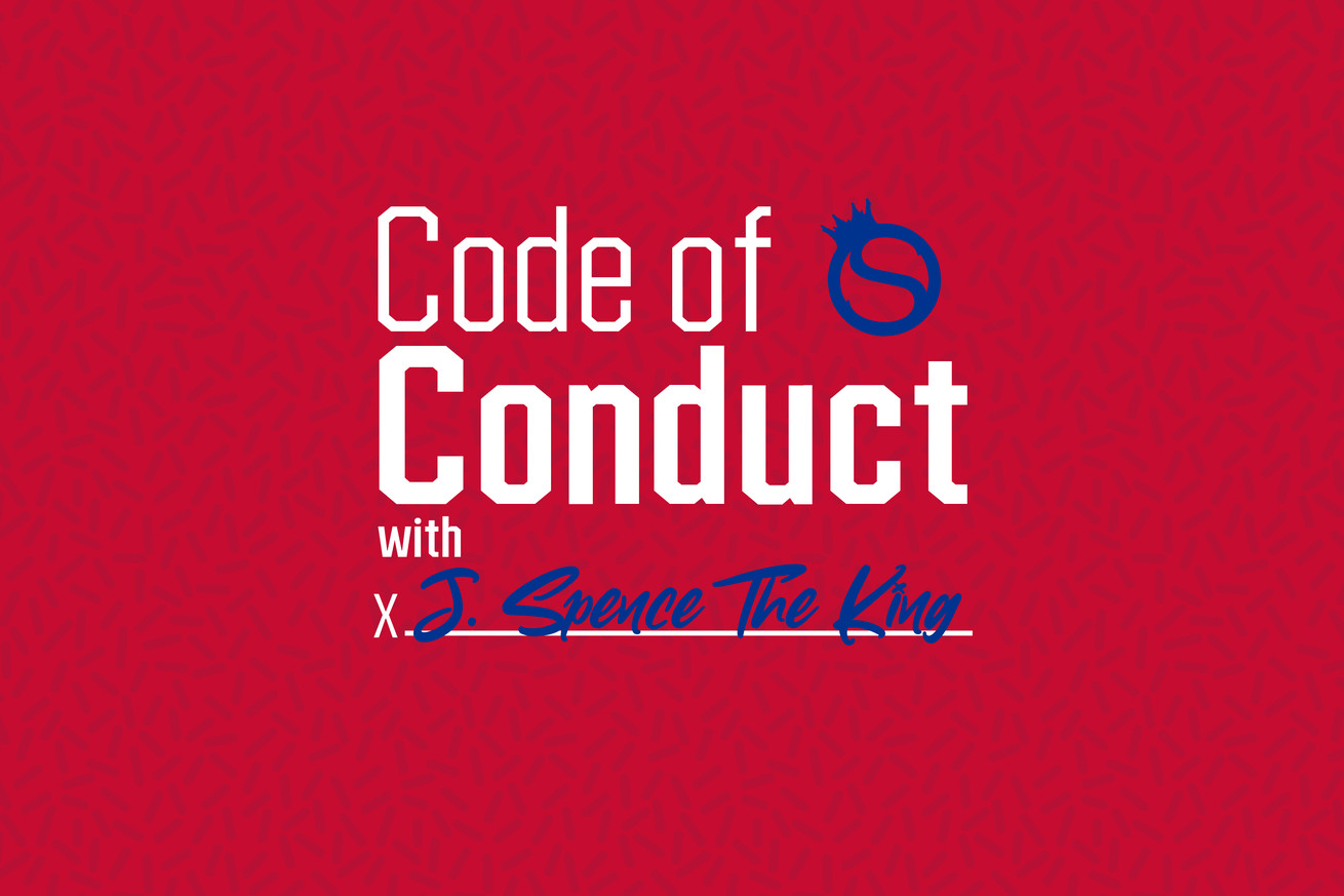Code of Conduct with J. Spence The King podcast art