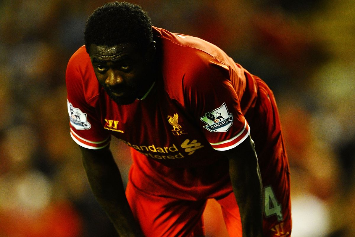 Slowing down time with his famous death stare, Kolo still struggled to get back after a corner...