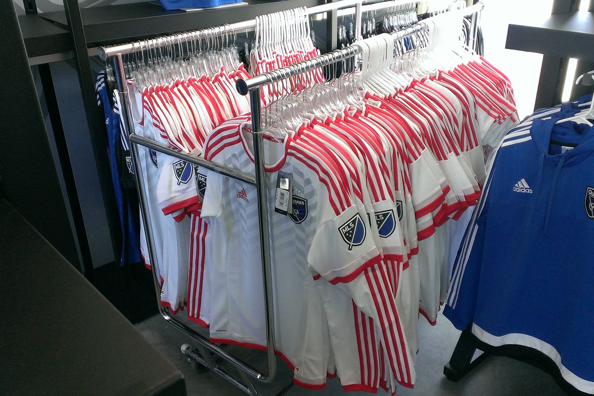 Racks and racks of secondary jerseys have arrived!