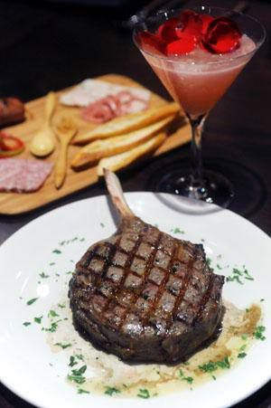 Steak from Vince Young Steakhouse