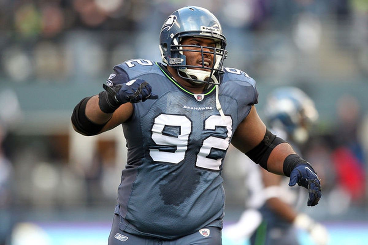 Defensive tackle Brandon Mebane  of the Seattle Seahawks is one of the best Free Agent options available in 2011.  (Photo by Otto Greule Jr/Getty Images)
