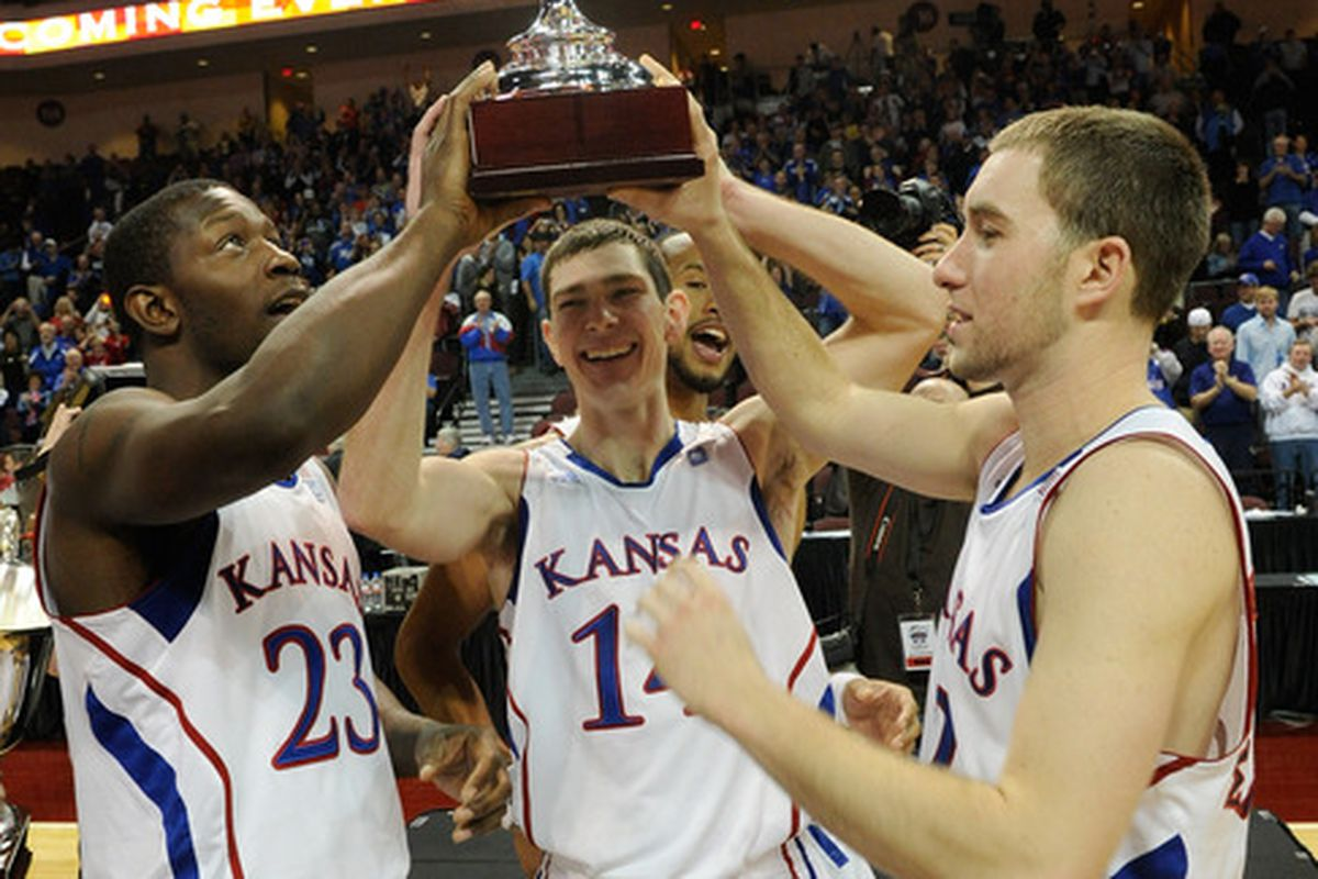 (The Big 12 doesn't really get a trophy for beating the Pac-10, but you get the idea)