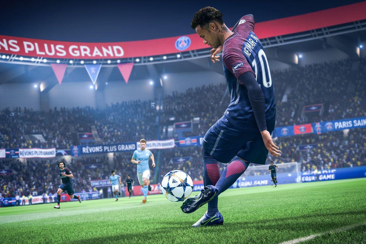 FIFA 19 - Neymar kicking with his back foot