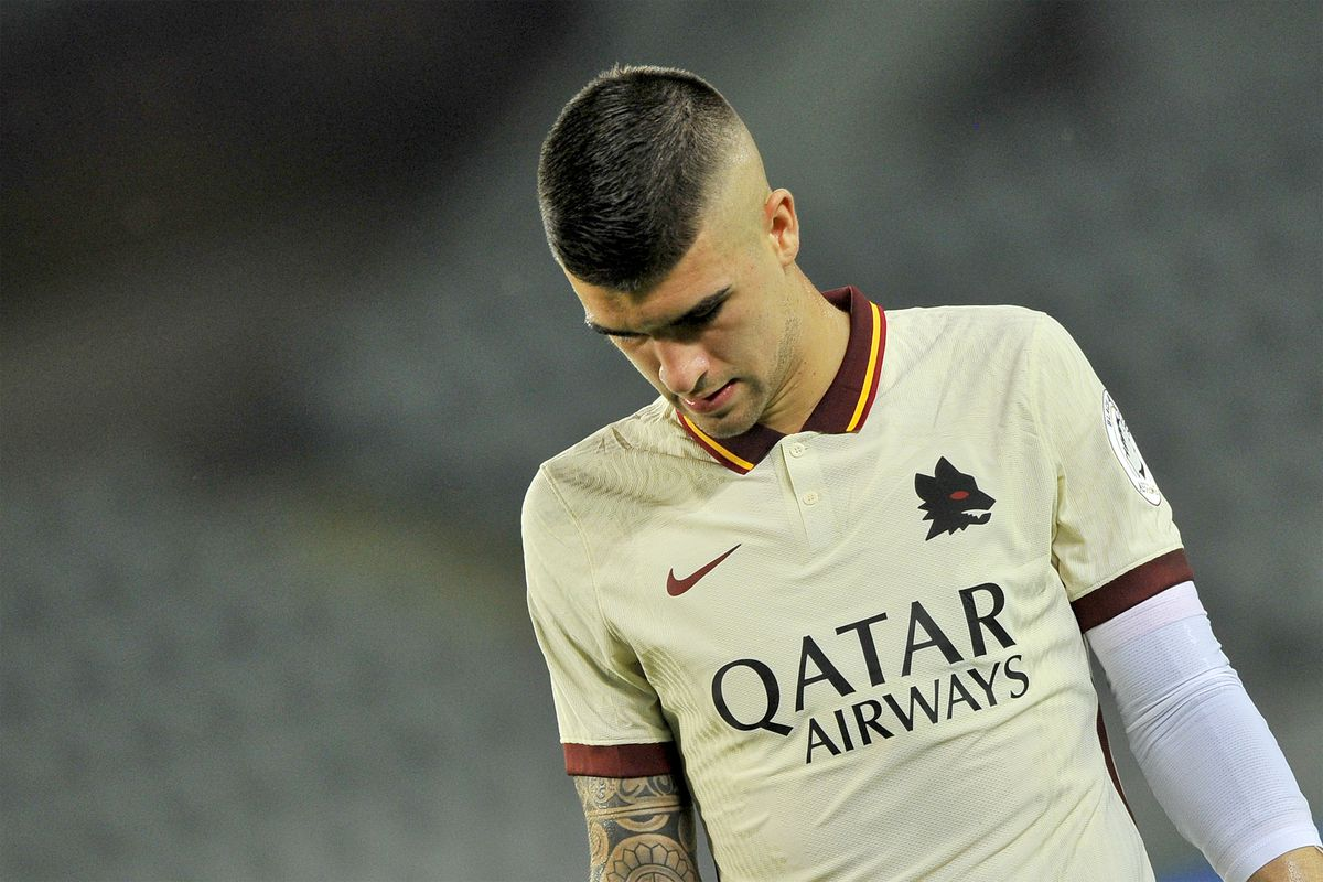 Gianluca Mancini Roma player, during the match of the...