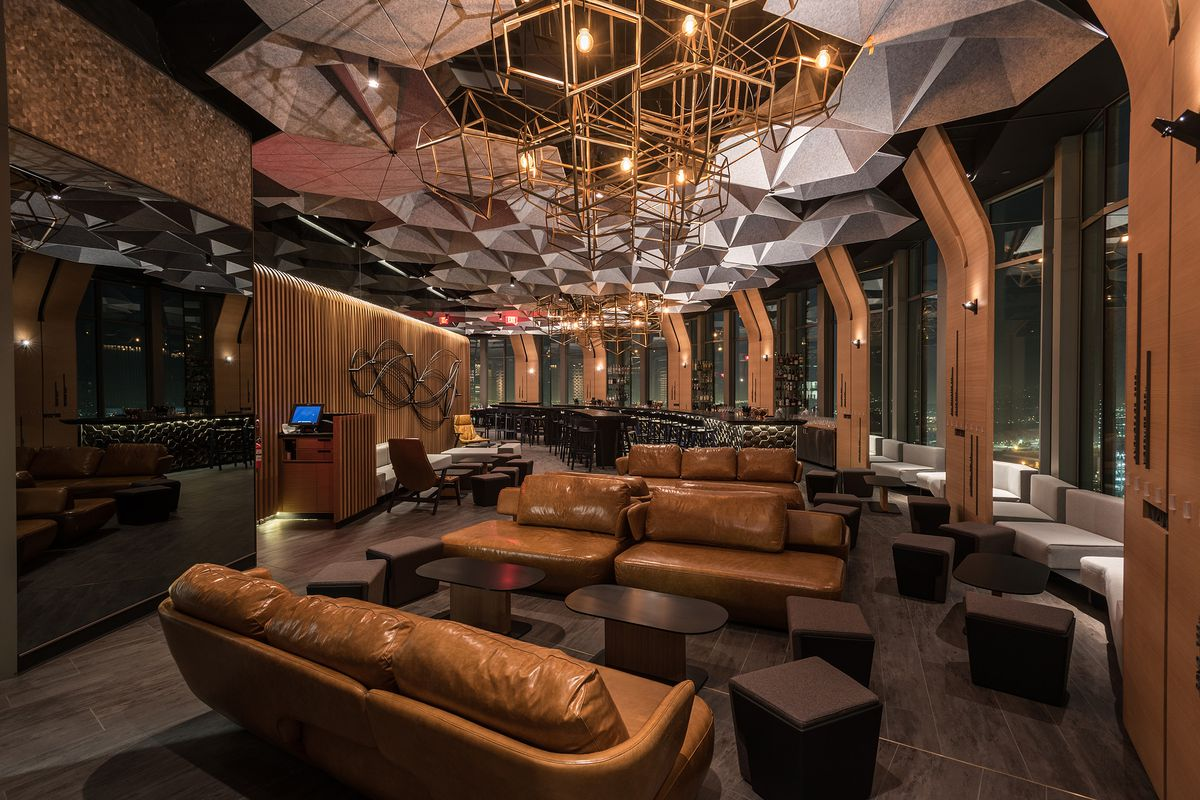 Lounge area at 71Above, Downtown LA