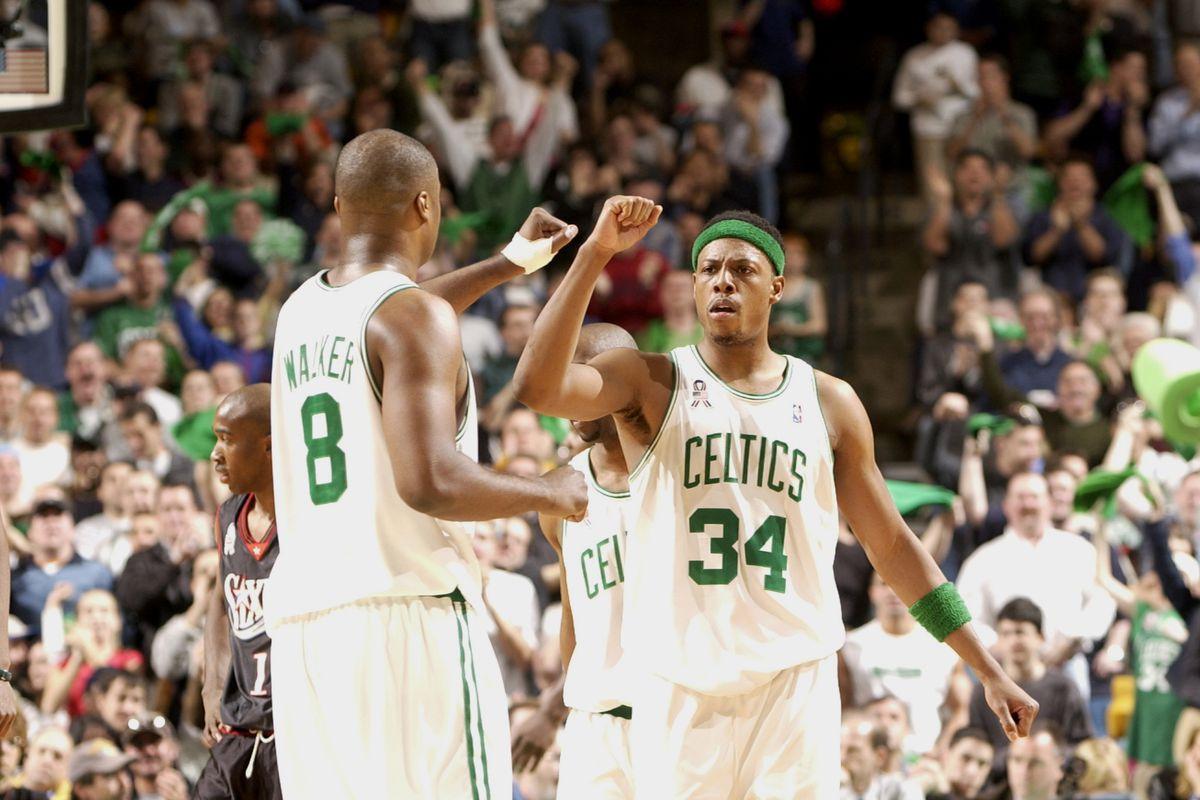 Celtics v Sixers X Pierce