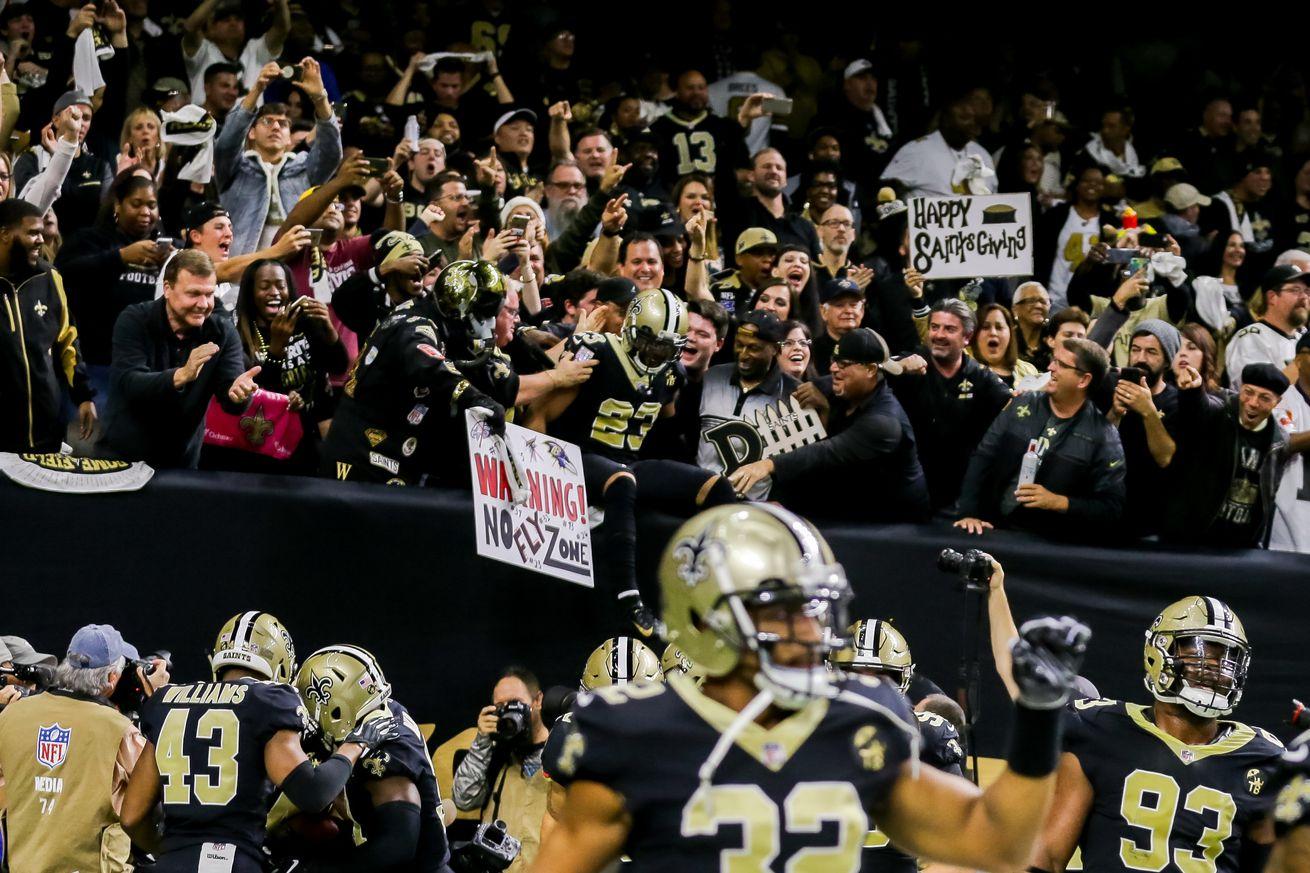 NFL: NOV 22 Falcons at Saints