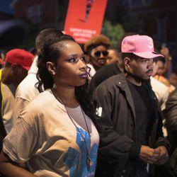Jennifer Hudson and Chance the Rapper | Scott Olson/Getty Images