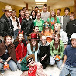 About 30 Kearns High students dress up and collect coins and bills for Kenyans with HIV/AIDS.