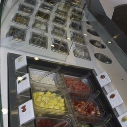 Toppings at Pinkberry.
